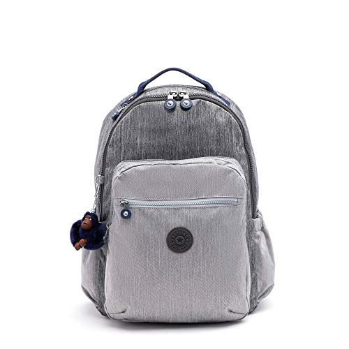 Kipling Seoul Go Large Laptop Backpack Ash Denim Block