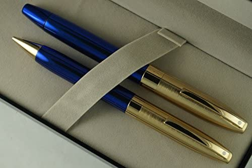 Sheaffer Made in The USA Legacy in Cobalt Blue Lacquer with 23KT Rollerball Pen.and 0.5MM Pencil Set