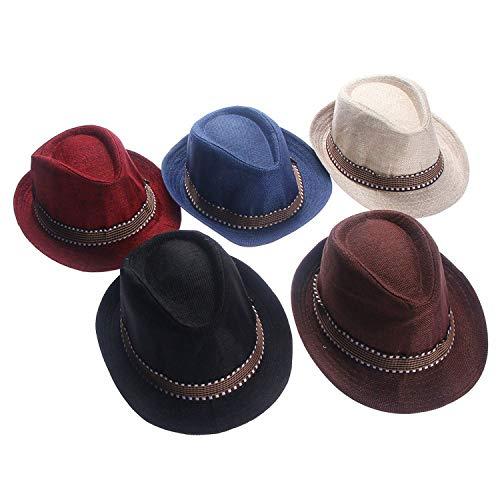 Fashion Baby Jazz Cap Bucket Sun Cap Summer Hat Girls Boys Photography Props Fedoras Children Blue ()