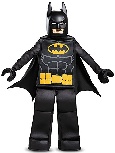 Disguise Batman Lego Movie Prestige Costume, Black, Medium (7-8) -