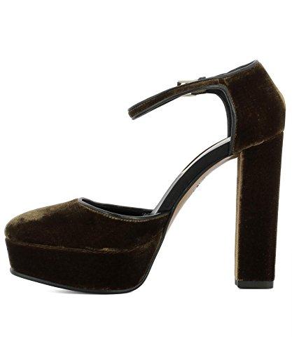 Chaussures 134802961750 134802961750 Etro Femme Etro Etro Velours Chaussures Femme À Marron Femme Marron Talons Velours Talons À 6pw6P