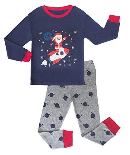 MAI CHUS Toddler Boys 2 Piece Pajama Set Cotton Top Pants children Dinosaur Sleepwear PJS