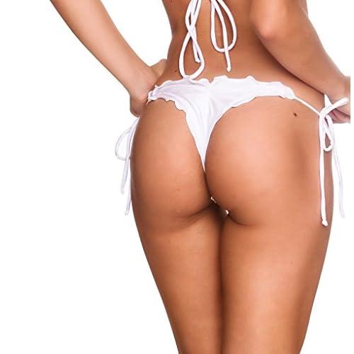 216e1ddc65398 COQUETA Swimwear Brazilian thong Scrunch Bottom Wavy Sexy Teeny Swimsuit  AQUA lovely