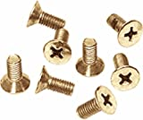 CRL Gold Plated Phillips 6 mm x 12 mm Cover Plate Flat Head Screws - Package