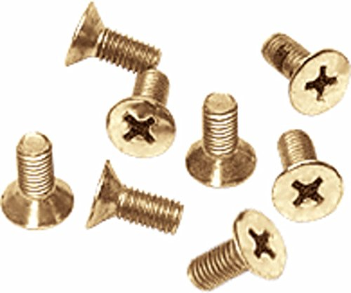 CRL Gold Plated Phillips 6 mm x 12 mm Cover Plate Flat Head Screws - Package by C.R. Laurence