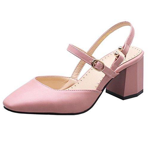 COOLCEPT Damen Solid Geschlossene Sandalen Pink