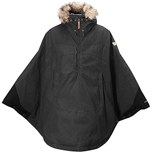 Fjallraven Women's Luhkka Cape, Dark Grey/Black, Small