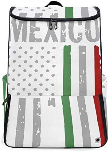 リュック メンズ レディース リュックサック 3way バックパック 大容量 ビジネス 多機能 メキシコの国旗 スクエアリュック シューズポケット 防水 スポーツ 上下2層式 アウトドア旅行 耐衝撃