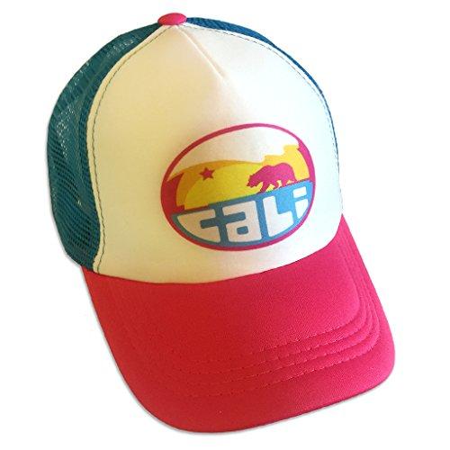(Sol Baby Cali Mountain Wave Infant/Toddler Hot Pink/Aqua Trucker Hat-M-Blue)
