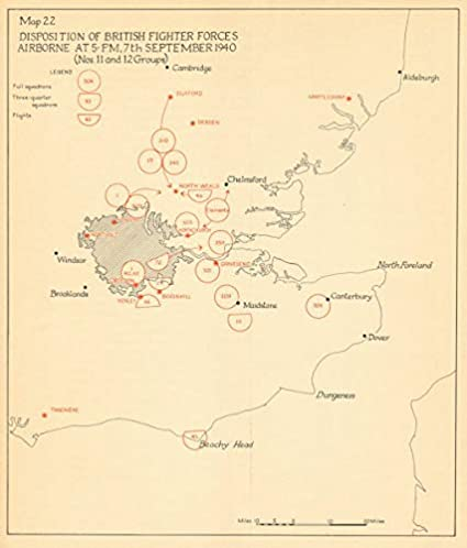 London Great Britain Map.Amazon Com Raf Fighter Forces Airborne 7 Sept 1940 Battle Of