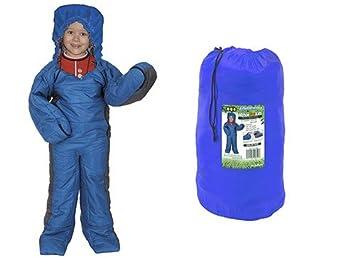 Azul el saco de dormir con brazos y piernas para adultos y niños Saco de dormir con armeln con mangas: Amazon.es: Deportes y aire libre