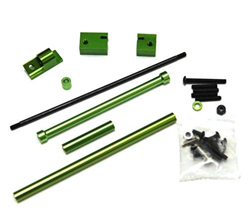 ST Racing Concepts SCX10 Aluminum Off-Axle Servo Mount/Panhard Kit (Green) (Servo Kit Mount)