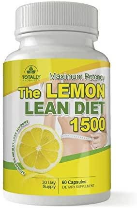 The Lemon Lean Diet - Maximum Potency 1500 mg I All Natural Advanced Weight Loss Formula I Detox, Digestion & Circulation Support I Includes Bonus Diet eBook I 60 Capsules