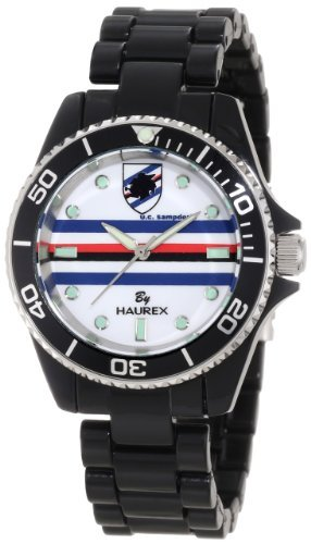 Haurex Italy Women's US339DNW Sport-R U.C. Sampdoria Rotating Bezel Black Watch by Haurex