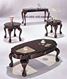 3pc Coffee Table Set 3pc Coffee Table & End Table Set Cherry Finish