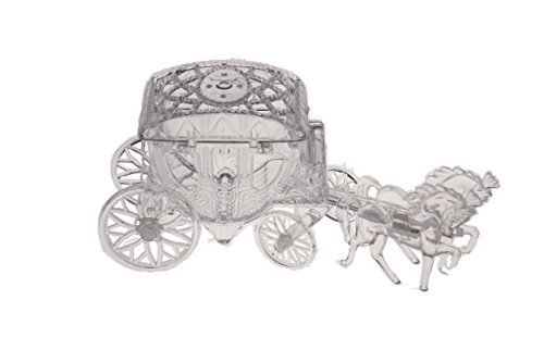 (12 Cinderella Coach Wedding Carriage Favor Plastic - Clear)