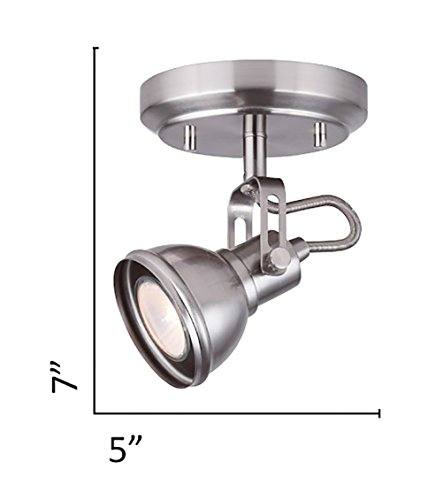 CANARM ICW622A01BN10 LTD Polo 1 Light Ceiling/Wall, Brushed Nickel with Adjustable Head by Canarm (Image #3)