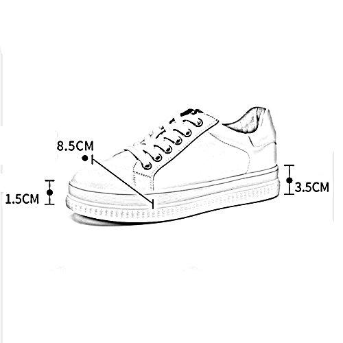 XIA Sneakers Black Green Flat Spring Tie The Shoelace Scarpe casual ( Colore : Nero , dimensioni : EU36/UK4/CN36 )