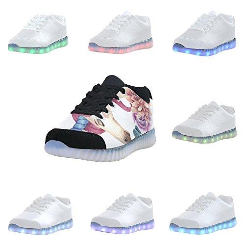 Interestprint Unicorno Light Up Shoes Sneakers Lampeggianti Scarpe Basse Casual Da Donna