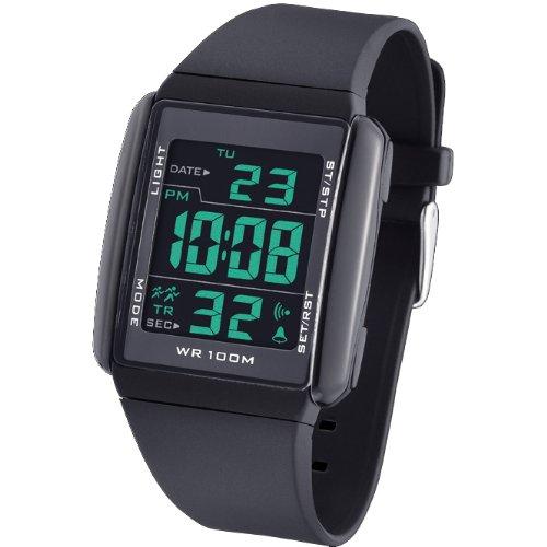 Reloj TIME FORCE de caballero DIGITAL. Sumergible Correa de caucho TF-3228M03: Amazon.es: Relojes