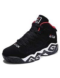 JiYe Men's Fashion Basketball Shoes Breathable Sneakers