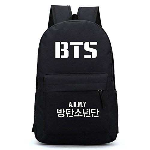 Yuxareen Kpop BTS Bangtan Boys Printed Canvas Tote Bag Shoulder Bag Canvas Messenger Bag Black 1