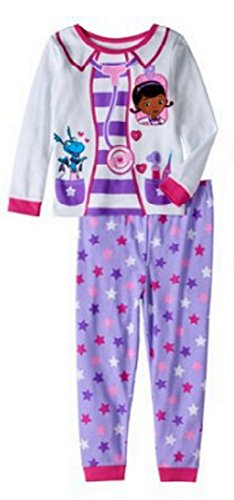 Pj Set Check (Disney Doc McStuffins Girls Time For Your Check-up 2 pc Pajama Set (3T))