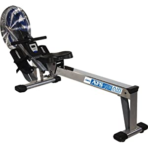 Stamina 35 1405 ATS Air Rower 1405 Rowing Machine, Air Resistance, LCD Fitness Monitor, Folding and Built In Wheels, Chrome/Blue/Black