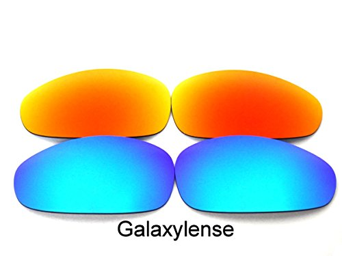Juliet Replacement Lenses (Galaxy Replacement lenses For Oakley Juliet Polarized Blue&Red Color 2 Pairs)