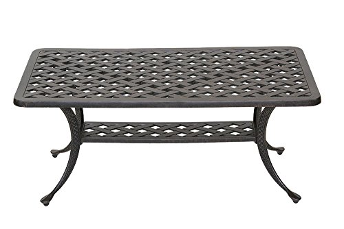 (Heritage Outdoor Living Nassau Cast Aluminum Coffee Table - Antique Bronze )