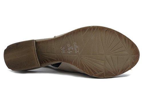 E17 5cm Pelle Pericoli Osvaldo Tacco Sandalo In An123 Accollato Beige x0wU6HqzU