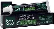 Creme Dental Boni Natural Carvão Ativado Branqueador Com Menta e Carvão Vegetal, Boni Natural, Preto