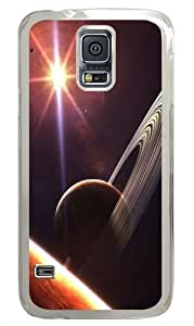 Planet Saturn Custom Samsung Galaxy S5 Case and Cover - Polycarbonate - Transparent