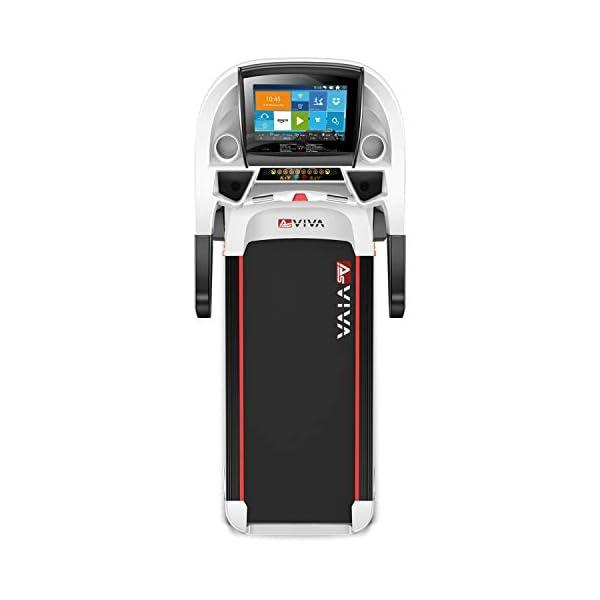 "7PS Motor bis 20km//h Brustgurt Pulsempf/änger inkl AsVIVA Laufband T18 Pro WiFi kompatibel 15/% Steigung elektronisch Heimtrainer mit 15,6/"" Touchscreen Android-Computer klappbar"