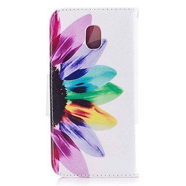 Casos hermosos, cubiertas, Funda Para Samsung J7 (2017) J5 (2017) Soporte de Coche Cartera con Soporte Flip Magnética Cuerpo Entero Flor Dura Cuero de PU para J7 ( Modelos Compatibles : Galaxy J5 Prim Galaxy J5(2017)