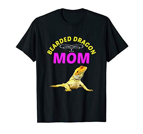 FUNNY BEARDED DRAGON MOM T-SHIRT Pet Lizard Gift ()