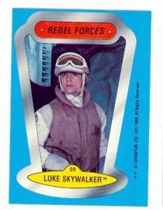 - Star Wars Empire Strikes Back card #59 Topps Sticker 1980 Luke Skywalker Mark Hamill