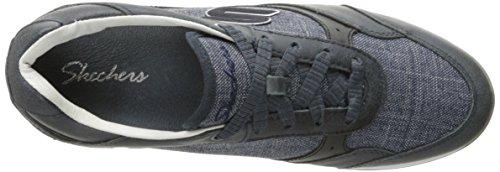 Skechers Vita zapatilla de deporte de moda Navy Leather/Linen
