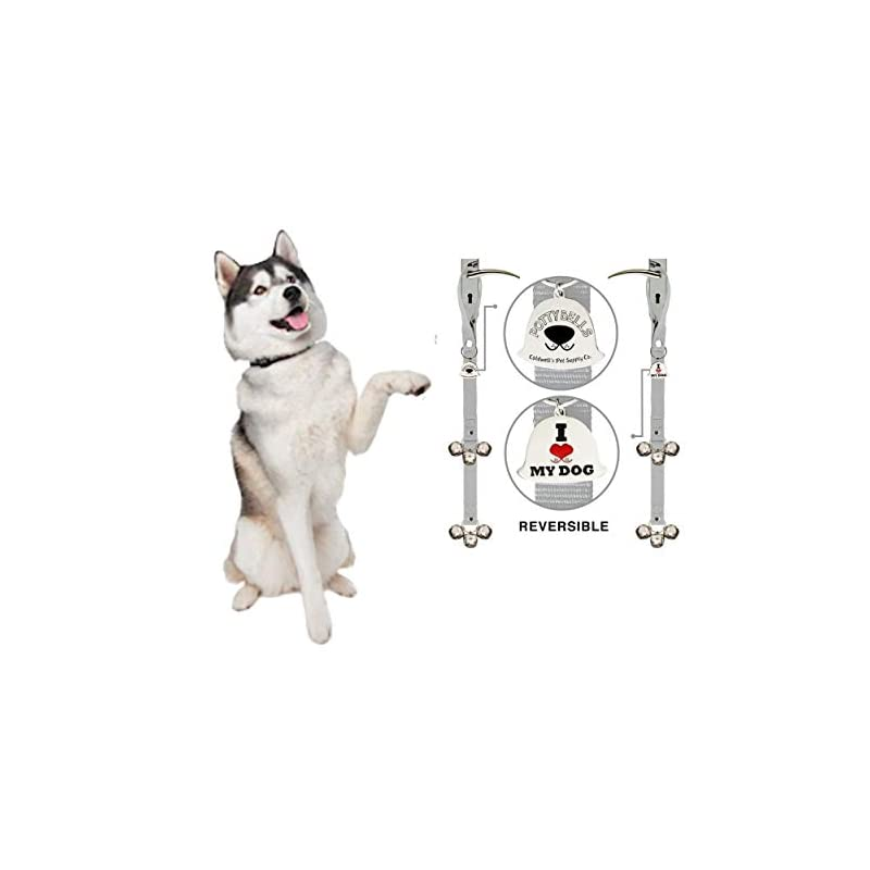 Caldwell's Pet Supply Co. Potty Bells Dog Doorbells for Housetraining Potty Training Dog or Puppy - Large Pleasant Sounding Bells Thick Durable Adjustable Strap Door Bell