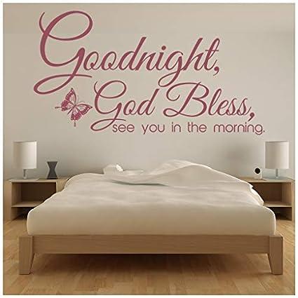 Amazon.com: banytree Goodnight God Bless Wall Sticker ...
