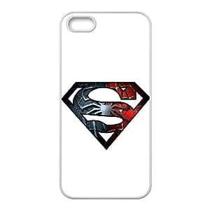 Superman Spiderman Logo M0Q24Q8KY funda iPhone 4 4s Funda Caso de la cubierta 707T6D blanco