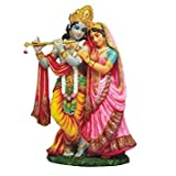 Ebros Vedic Radha And Krishna Statue 8Tall Avatar Of Vishnu And Shakti Gods Divine Love In Male And Female Aspects