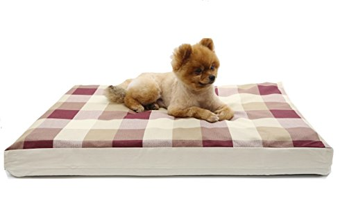 Evolive Dog bed cover replacement with zip closure Plaid Pattern (27