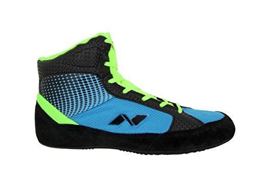 Nivia Men's New Wrestling-1 Mesh PVC Suede Blue Wrestling Shoes