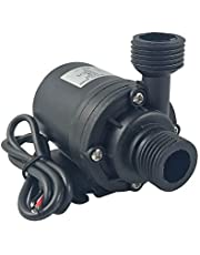 ZAOJIAO DC 12V Brushless Water Pump 1/2'' Male Thread Centrifugal Submersible Pump 800L/H 210GPH 4M/13ft for Fountain Solar Panel Pond Aquarium Water Circulation System
