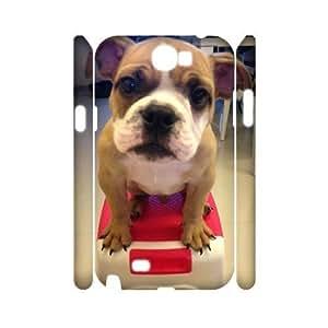 Bulldog Dog High Qulity Customized 3D Cell Phone Case for Samsung Galaxy Note 2 N7100, Bulldog Dog Galaxy Note 2 N7100 3D Cover Case