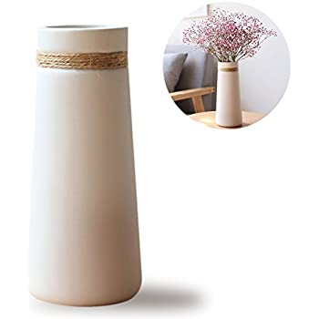 Amazon Opps White Ceramic Vases With Differing Unique Rope