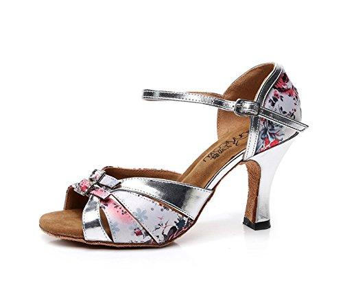 Salle Rose7 Jshoe 5 5cm Pour Satin De Talons Jazz Tango Our39 Chaussures Hauts Sandales Femmes Samba Chacha Danse Modernes Eu38 Salsa Talon fr5 Bal Floral Latines 1rwrYqRx