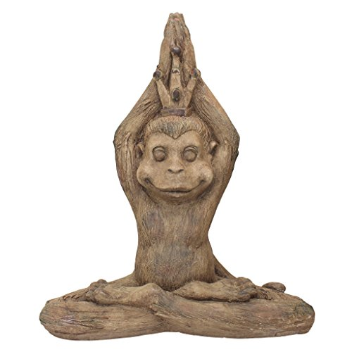 Design Toscano Monkey Mantra Zen Animal Statue, Full Color ()