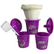3 pcs Refillable Reusable Coffee or Tea Filter Cup for Keurig K-Cup Brewers pack in a Regular Plastic Bag